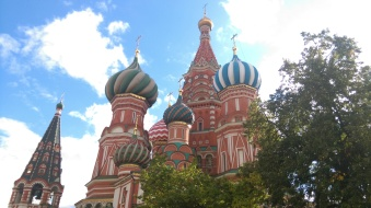 Saint Basil's Cathedral on an unusually sunny day